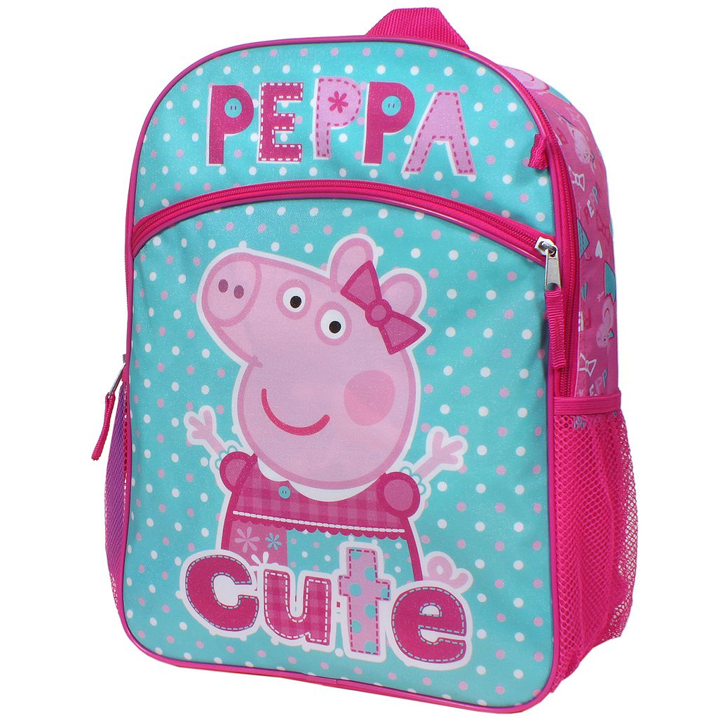 Girls Peppa Pig 5-pc. Backpack, Lunch Box & Accessories Set