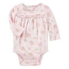 Baby Girl OshKosh B'gosh® Slubbed Floral Bodysuit