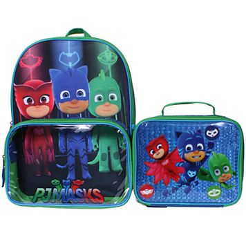 Kids PJ Masks Catboy, Owlette & Gekko Backpack & Lunch Box Set