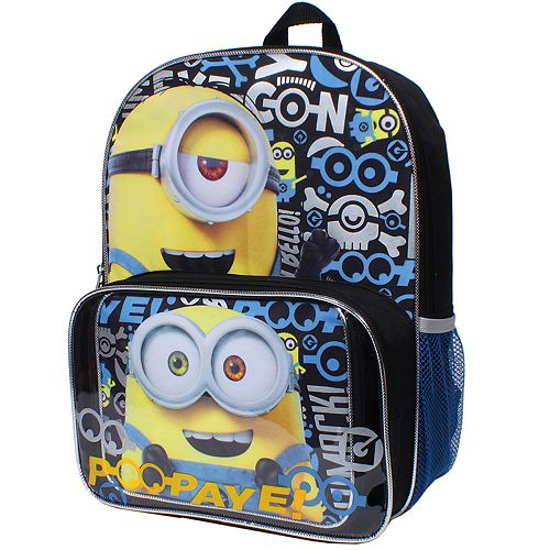 ffeb4a04d4ab Despicable Me Minions Bob & Kevin Backpack & Lunch Tote Set