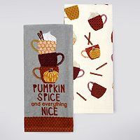 Celebrate Fall Together Pumpkin Spice Kitchen Towel 2-pk.