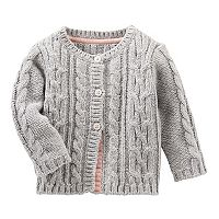 Baby Girl OshKosh B'gosh® Cable Knit Cardigan Sweater