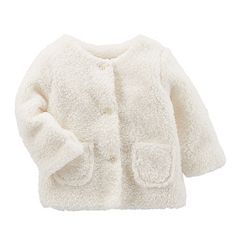 Baby Girl OshKosh B'gosh® Sherpa Cardigan