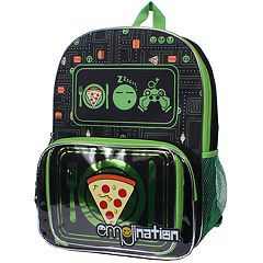 Emojination Pizza Graphic Backpack & Lunch Tote Set