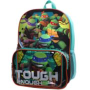 "Kids Teenage Mutant Ninja Turtles Raphael, Michelangelo, Leonardo & Donatello ""Tough Enough"" Backpack & Lunch Box Set"