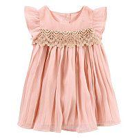 Baby Girl OshKosh B'gosh® Pleated Sparkle Dress