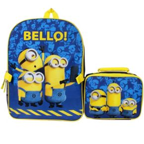 """Despicable Me Minions """"Bello!"""" Backpack & Lunch Tote Set"""