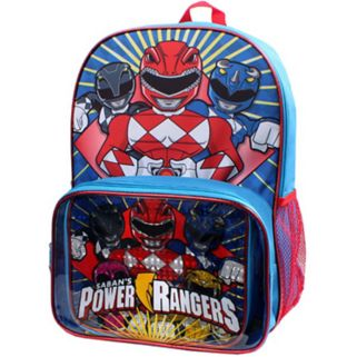 Kids Power Rangers Backpack & Lunch Box Set