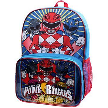 Kids Power Rangers Backpack & Lunch Box Set
