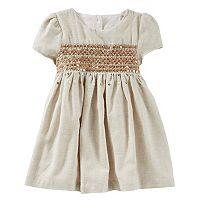 Baby Girl OshKosh B'gosh® Sequin Flannel Dress