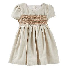 Baby Girl OshKosh B'gosh® Sequin Flannel Dress
