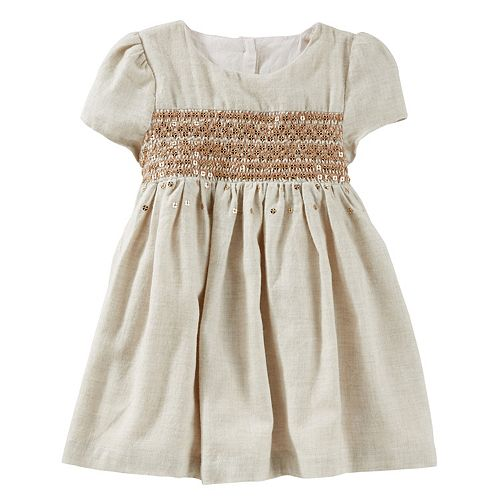 6638e51c9723 Baby Girl OshKosh B gosh® Sequin Flannel Dress