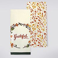 Celebrate Fall Together Grateful Kitchen Towel 2-pk.