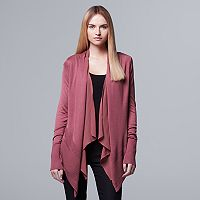 Women's Simply Vera Vera Wang Ribbed Flyaway Cardigan