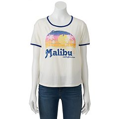 Juniors' Malibu California Sunset Graphic Tee