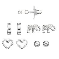 Apt. 9® Elephant & Heart Nickel Free Stud Earring Set