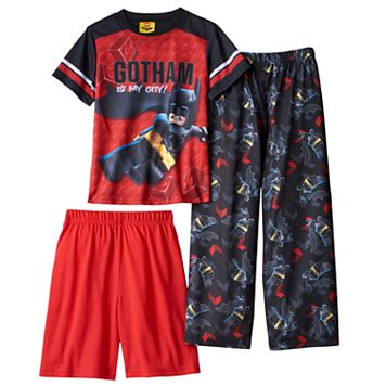 Boys 4-10 The Lego Batman Movie Gotham City 3-Piece Pajama Set