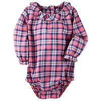 Baby Girl OshKosh B'gosh® Plaid Ruffled Bodysuit