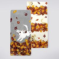 Celebrate Fall Together Dog Kitchen Towel 2-pk.