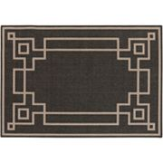 Surya Blanche Framed Geometric Indoor Outdoor Rug
