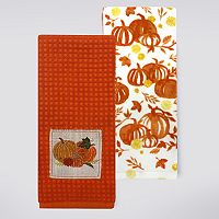 Celebrate Fall Together Pumpkin Patch Kitchen Towel 2-pk.