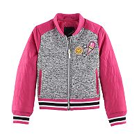 Girls 4-16 Collection B Sweater Fleece Bomber Jacket