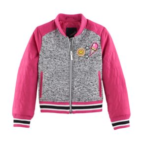 Girls 4-16 Collection B Sweater Fleece Bomber Jacket