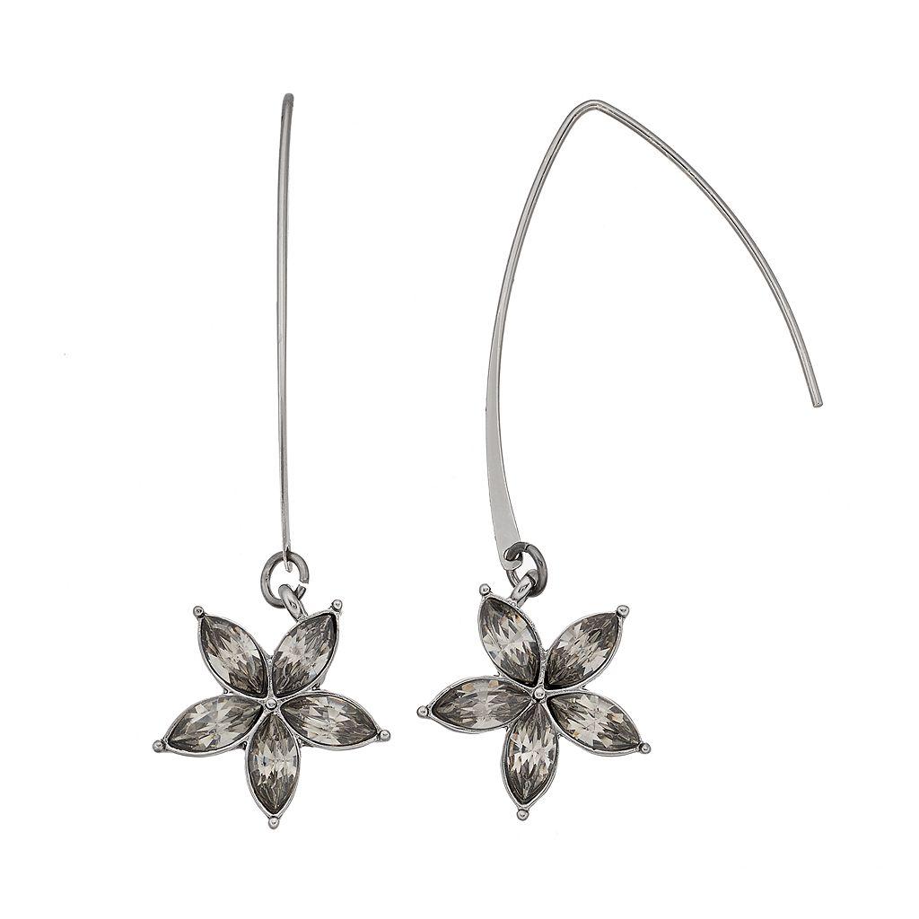 Simply Vera Vera Wang Flower Threader Earrings