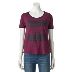 """Juniors' Mean Girls """"You Go Glen Coco"""" Ringer Graphic Tee"""