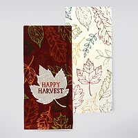 Celebrate Fall Together Leaf Patch Kitchen Towel 2-pk.