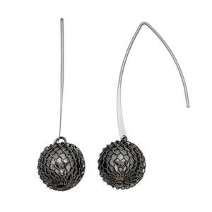 Simply Vera Vera Wang Mesh Bead Nickel Free Threader Earrings