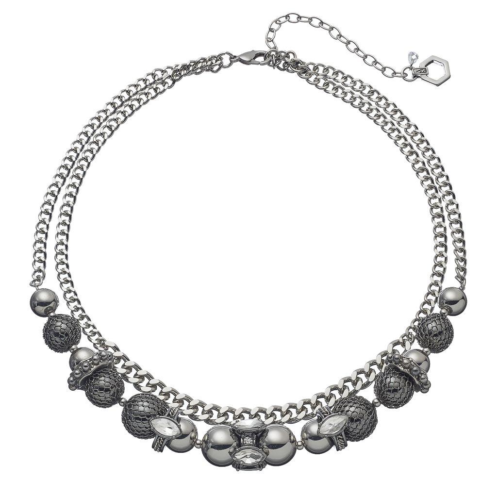 Simply Vera Vera Wang Beaded Double Strand Chain Necklace
