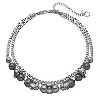 Simply Vera Vera Wang Beaded Double Strand Chain Necklace