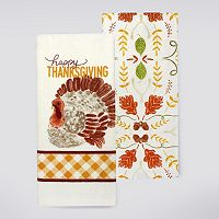 Celebrate Fall Together Turkey Kitchen Towel 2-pk.