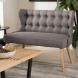 Baxton Studio Melody Modern Tufted Loveseat