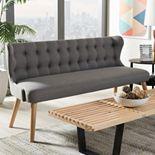 Baxton Studio Melody Modern Tufted Sofa