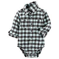 Baby Boy OshKosh B'gosh® Flannel Plaid Bodysuit