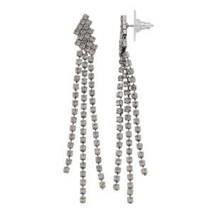 Simply Vera Vera Wang Triple Cup Chain Linear Drop Earrings