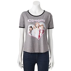 Juniors' Clueless Movie Logo Ringer Graphic Tee