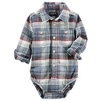 Baby Boy OshKosh B'gosh® Plaid Flannel Bodysuit