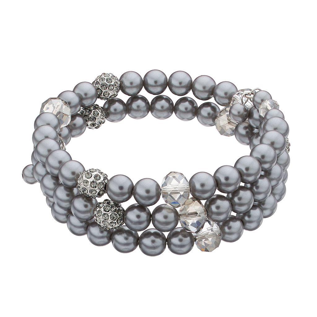 Simply Vera Vera Wang Fireball Simulated Pearl Coil Bracelet