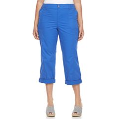 Plus Size Croft & Barrow® Cuffed Twill Pants