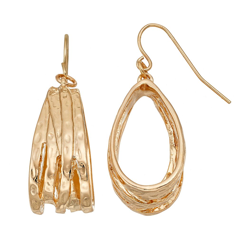 Nickel Free Looped Teardrop Earrings
