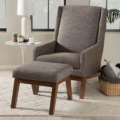 Pleasant Baxton Studio Aberdeen Accent Chair Ottoman 2 Piece Set Bralicious Painted Fabric Chair Ideas Braliciousco