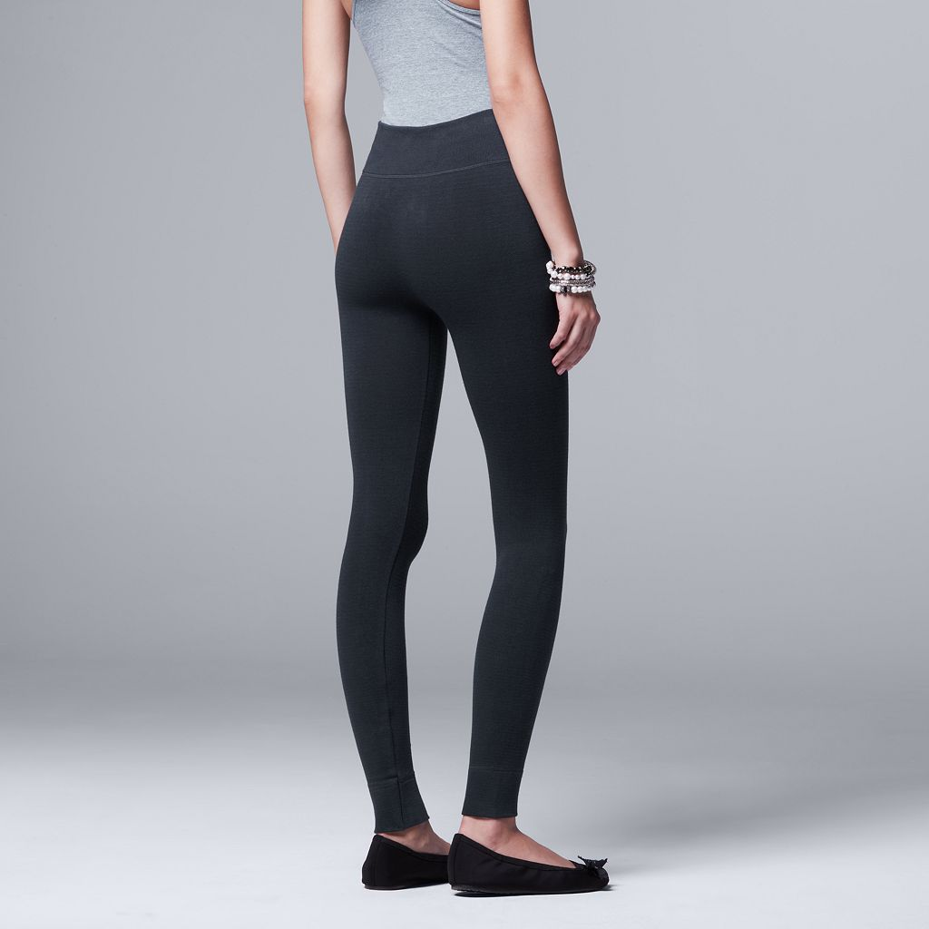 Women's Simply Vera Vera Wang Seamless Twill Leggings