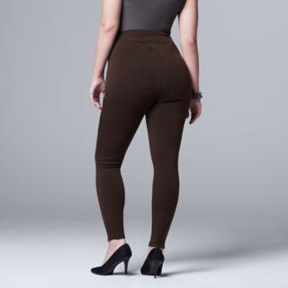 Plus Size Simply Vera Vera Wang Heavyweight Lined Leggings