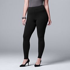 Plus Size Simply Vera Vera Wang Heavyweight Lined Leggings