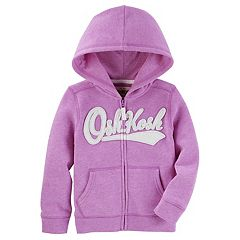Baby Girl OshKosh B'gosh® Logo Purple Zip Up Hoodie