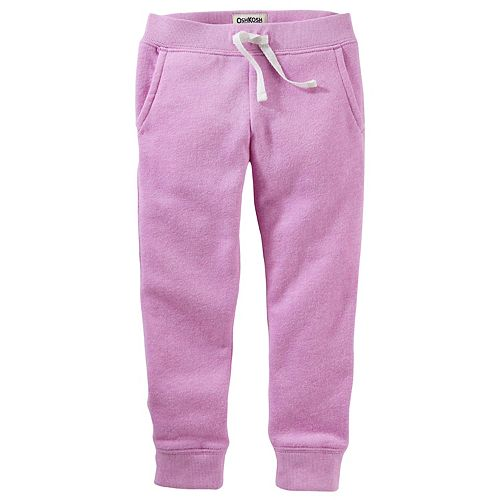 Baby Girl OshKosh B'gosh® Purple Fleece Jogger Pants
