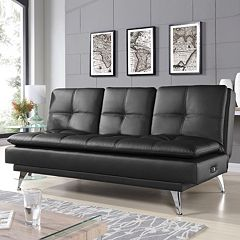 Relax A Lounger Corpus Charging Station Convertible Sofa Bed